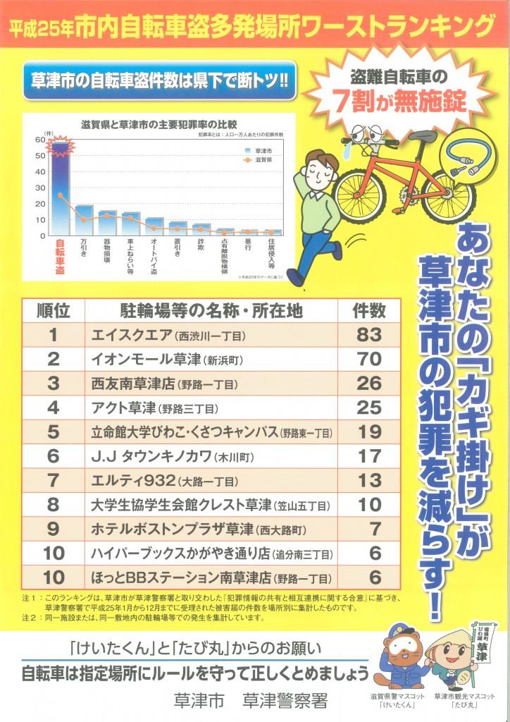 自転車盗防止啓発ポスター�